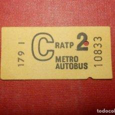 Coleccionismo Billetes de transporte: BILLETE DE TRANSPORTE - CRATP 2 - METRO AUTOBUS - SIN DETERMINAR LOCALIDAD. Lote 118220343