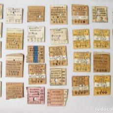 Coleccionismo Billetes de transporte: LOTE DE 31 BILLETES DE TREN ANTIGUOS PARTIDOS AL MEDIO - FERROCARRILES. Lote 118256295