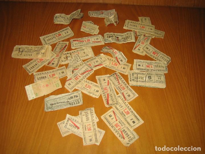 LOTE DE ANTIGUOS BILLETES DE TRANSPORTE (Coleccionismo - Billetes de Transporte)