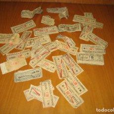 Coleccionismo Billetes de transporte: LOTE DE ANTIGUOS BILLETES DE TRANSPORTE. Lote 118302639
