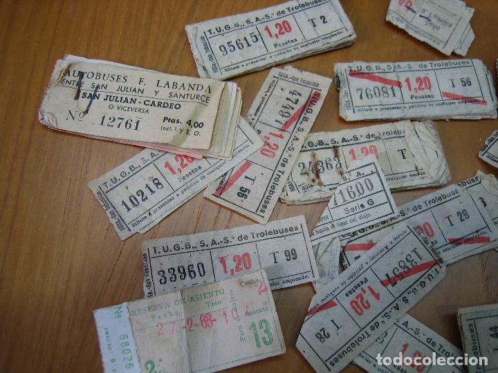 Coleccionismo Billetes de transporte: Lote de antiguos billetes de transporte - Foto 2 - 118302639