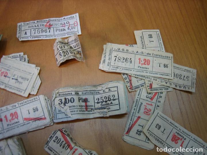 Coleccionismo Billetes de transporte: Lote de antiguos billetes de transporte - Foto 3 - 118302639