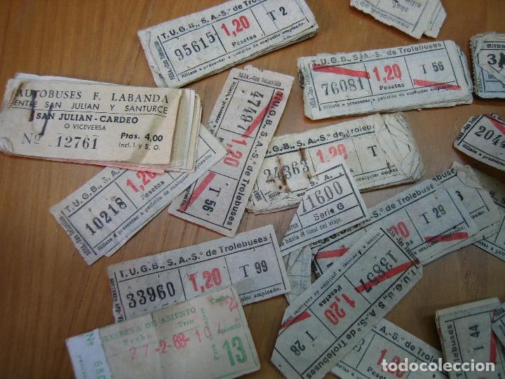 Coleccionismo Billetes de transporte: Lote de antiguos billetes de transporte - Foto 7 - 118302639