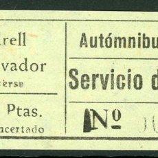 Coleccionismo Billetes de transporte: BILLETE DE AUTOMNIBUS PIÑANA // VENDRELL - SAN SALVADOR // AÑOS 50-60 // T21. Lote 119147031