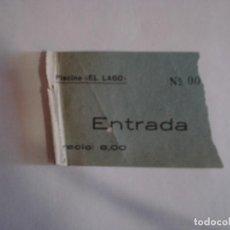 Coleccionismo Billetes de transporte: ANTIGUA ENTRADA PISCINA EL LAGO. Lote 119704839