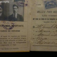 Coleccionismo Billetes de transporte: BILLETE POR KILOMETROS PRIMERA CLASE SERIE F,5000 KILOMETROS. Lote 120249727