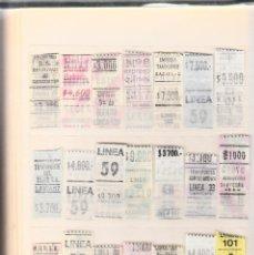 Coleccionismo Billetes de transporte: TRANSPORTE -COLECCIÓN DE 170 BILLETES AUTOBUS DE ARGENTINA. Lote 120692395