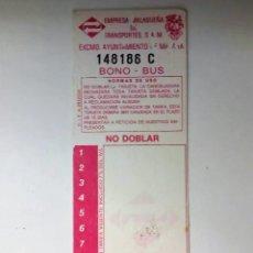 Coleccionismo Billetes de transporte: BONOBUS EMPRESA MALAGUEÑA DE TRANSPORTES AÑOS 90 - MALAGA. Lote 121021699