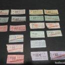 Coleccionismo Billetes de transporte: LOTE 20 BILLETES DIFERENTES TRANVIAS DE BARCELONA TB 60 CENTIMOS. Lote 121172871