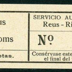 Coleccionismo Billetes de transporte: BILLETE DE SERVICIO AUTOMNIBUS // REUS - RIUDOMS // U2. Lote 121700315