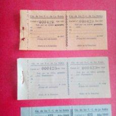 Coleccionismo Billetes de transporte: BILLETES DE TREN (CIA DE LOS F.-C. DE LA ROBLA) AÑOS:1937-1944 Y 1949 .GUERRA CIVIL Y POSGUERRA.. Lote 188519202