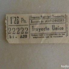 Coleccionismo Billetes de transporte: BILLETE DE TRANSPORTE EMT CAPICUA 22222. Lote 121967467