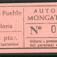 Coleccionismo Billetes de transporte: BILLETES DE AUTOBUSES MONGAT - OCATA // BADALONA // U46. Lote 122182983
