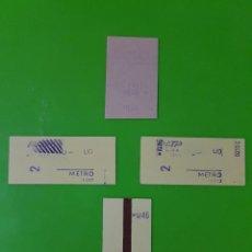 Coleccionismo Billetes de transporte: LOTE DE 4 BILLETES DE TRANSPORTE MUY ANTIGUOS Y DESCONOZCO SI SON DE TREN O METRO MUY RAROS. Lote 122492679