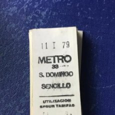 Coleccionismo Billetes de transporte: BILLETE METRO MADRID - PARADA ESTACION SANTO DOMINGO. Lote 123076167