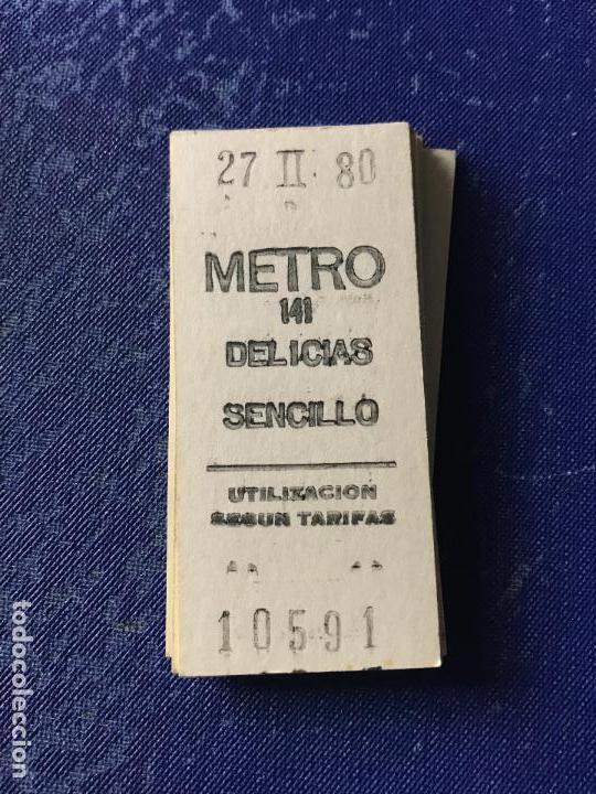BILLETE METRO MADRID - PARADA ESTACION DELICIAS (Coleccionismo - Billetes de Transporte)