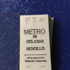 Coleccionismo Billetes de transporte: BILLETE METRO MADRID - PARADA ESTACION DELICIAS. Lote 123076215