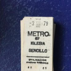 Coleccionismo Billetes de transporte: BILLETE METRO MADRID - PARADA ESTACION IGLESIA. Lote 123076267