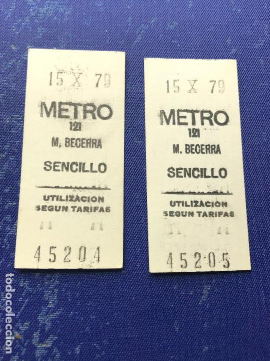 Coleccionismo Billetes de transporte: BILLETE METRO MADRID CORRELATIVOS - PARADA ESTACION BECERRA - Foto 2 - 123077299