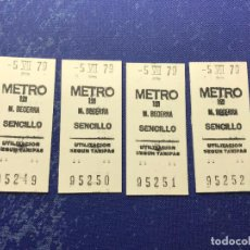 Coleccionismo Billetes de transporte: BILLETE METRO MADRID CORRELATIVOS - PARADA ESTACION BECERRA. Lote 123077435