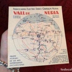 Coleccionismo Billetes de transporte: DIPTICO PUBLICIDAD FERROCARRIL VALL DE NURIA ...AÑOS 50 CREMALLERA. Lote 123304683