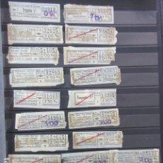 Coleccionismo Billetes de transporte: LOTE 28 BILLETES DIFERENTE URBAS TUSA URBANIZACIONES Y TRANSPORTES VER FOTOS- ARD-111 LEER INT. Lote 123383111