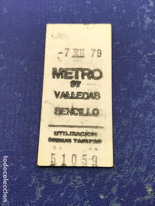 BILLETE METRO MADRID - PARADA ESTACION VALLECAS (Coleccionismo - Billetes de Transporte)