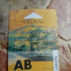 Collezionismo Biglietti di trasporto: BILLETE TICKET BONO GUAGUA AUTOBUS INTERURBANO GRAN CANARIA GLOBAL SALCAI UTINSA 10 VIAJES. Lote 125076327
