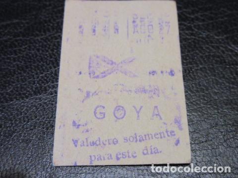 BILLETE METRO DE MADRID PARADA GOYA (Coleccionismo - Billetes de Transporte)