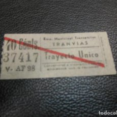 Coleccionismo Billetes de transporte: BILLETE DE TRANVIA DE MADRID 40 CTS V AF 98. Lote 126096079