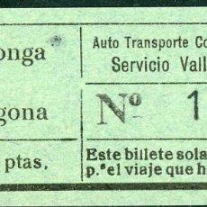 Coleccionismo Billetes de transporte: BILLETE DE AUTO TR. COLEC. VILALLONGA // VILALLONGA - TARRAGONA // V45. Lote 126153331