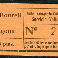Coleccionismo Billetes de transporte: BILLETE DE AUTO TR. COLEC. VILALLONGA // MASSO - ROURELL, TARRAGONA // V45. Lote 126153483