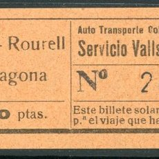 Coleccionismo Billetes de transporte: BILLETE DE AUTO TR. COLEC. VILALLONGA // MASSO - ROURELL - TARRAGONA // V45. Lote 126153643