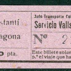 Coleccionismo Billetes de transporte: BILLETE DE AUTO TR. COLEC. VILALLONGA // CONSTANTI - TARRAGONA // V45. Lote 126153779