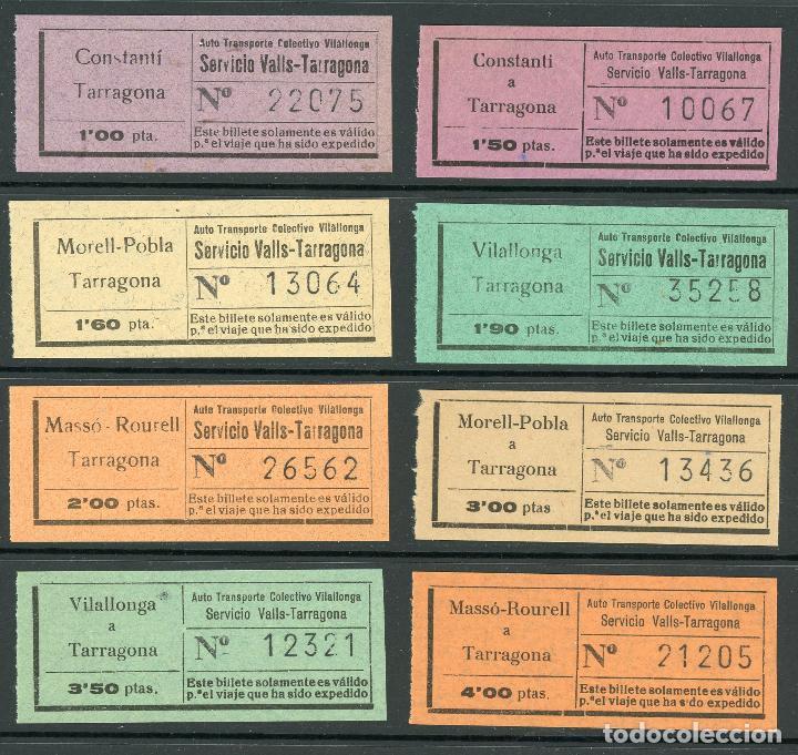 (L491) 6 BILLETES DE AUTO TR. COLEC. VILALLONGA // V45 (Coleccionismo - Billetes de Transporte)