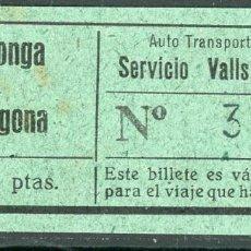 Coleccionismo Billetes de transporte: BILLETE DE AUTO TRANSPORTE VILALLONGA // VILALLONGA - TARRAGONA // V45. Lote 126154063