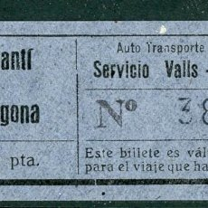 Coleccionismo Billetes de transporte: BILLETE DE AUTO TRANSPORTE VILALLONGA // CONSTANTI A TARRAGONA // V45. Lote 126154495