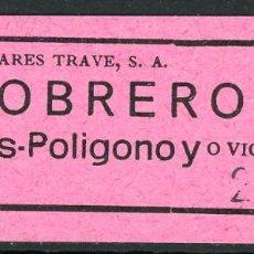 Coleccionismo Billetes de transporte: (L501) BILLETE DE AUTOCARES TRAVE, S.A. // OBREROS VALLS - POLIGONA // V53. Lote 126155539
