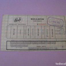 Coleccionismo Billetes de transporte: BILLETE DE RENFE. MADRID - MALAGA. 1969.. Lote 127566275