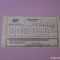 Coleccionismo Billetes de transporte: BILLETE DE RENFE. MADRID - MALAGA. 1969.. Lote 127566347