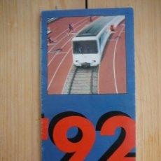 Coleccionismo Billetes de transporte: PLANO METRO DE BARCELONA. OLIMPIADA 1992 (JUEGOS OLÍMPICOS). Lote 127849031