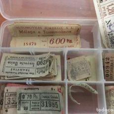 Coleccionismo Billetes de transporte: COLECCIÓN DE BILLETES ANTIGUOS DE TRANVÍA ETCÉTERA VER FOTOS. Lote 128028862