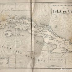 Coleccionismo Billetes de transporte: PLANO FERROCARRILES CUBA 1919.HECHO POR CALLEJA +.PLANO HABANA.MUY INTERESANTE. Lote 128464175