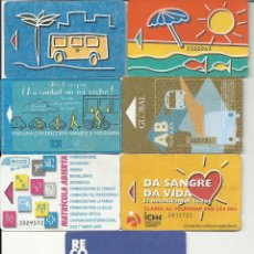 Coleccionismo Billetes de transporte: 7 BILLETES GUAGUAS LAS PALMAS. Lote 128465031
