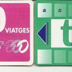 Coleccionismo Billetes de transporte: 2 TARJETAS TRANSPORTS EGARA TERRASSA. Lote 128465895