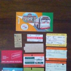 Coleccionismo Billetes de transporte: 12 BILLETES METRO, TREN, BUS.... Lote 128589351