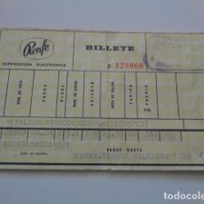 Coleccionismo Billetes de transporte: RENFE. BILLETE TREN AÑOS 70, VALENCIA A BARCELONA. TARJETA. Lote 129651363