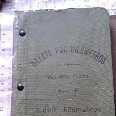 Coleccionismo Billetes de transporte: FERROCARRILES ESPAÑOLES - BILLETE POR KILOMETROS - SEGUNDA CLASE - SERIE F - 5000 KILOMETROS - 1911. Lote 131142476