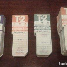 Coleccionismo Billetes de transporte: ANTIGUAS TARJETAS RESISTIVAS USADAS T-1 T-2 METRO BARCELONA (0,70€UNIDAD). TARJETA DE TRANSPORTE. Lote 131935902