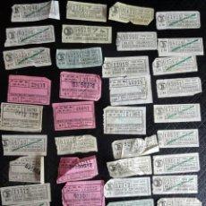 Coleccionismo Billetes de transporte: LOTE DE 45 ANTIGUOS BILLETES TB VARIADOS , VER FOTOS. Lote 132197850